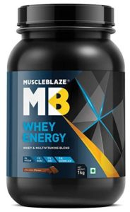 MuscleBlaze 100% Whey Energy Protein Supplement Powder with Vitamins & Minerals